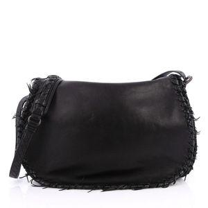 Bottega Veneta Flap Bag with Frayed detail
